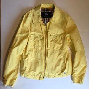 Used Burberry Pale Yellow Rain Coat (some flaws)